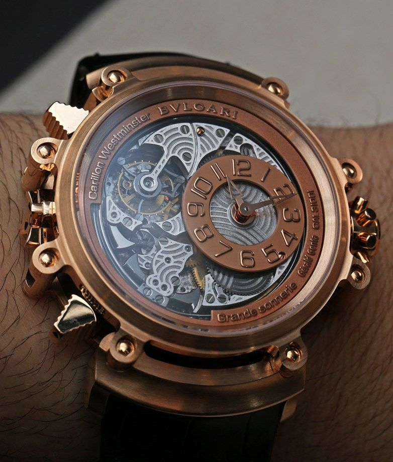 Bulgari magsonic grande sonnerie tourbillon watch on the wrist from the siar2014 watch for Grande sonnerie