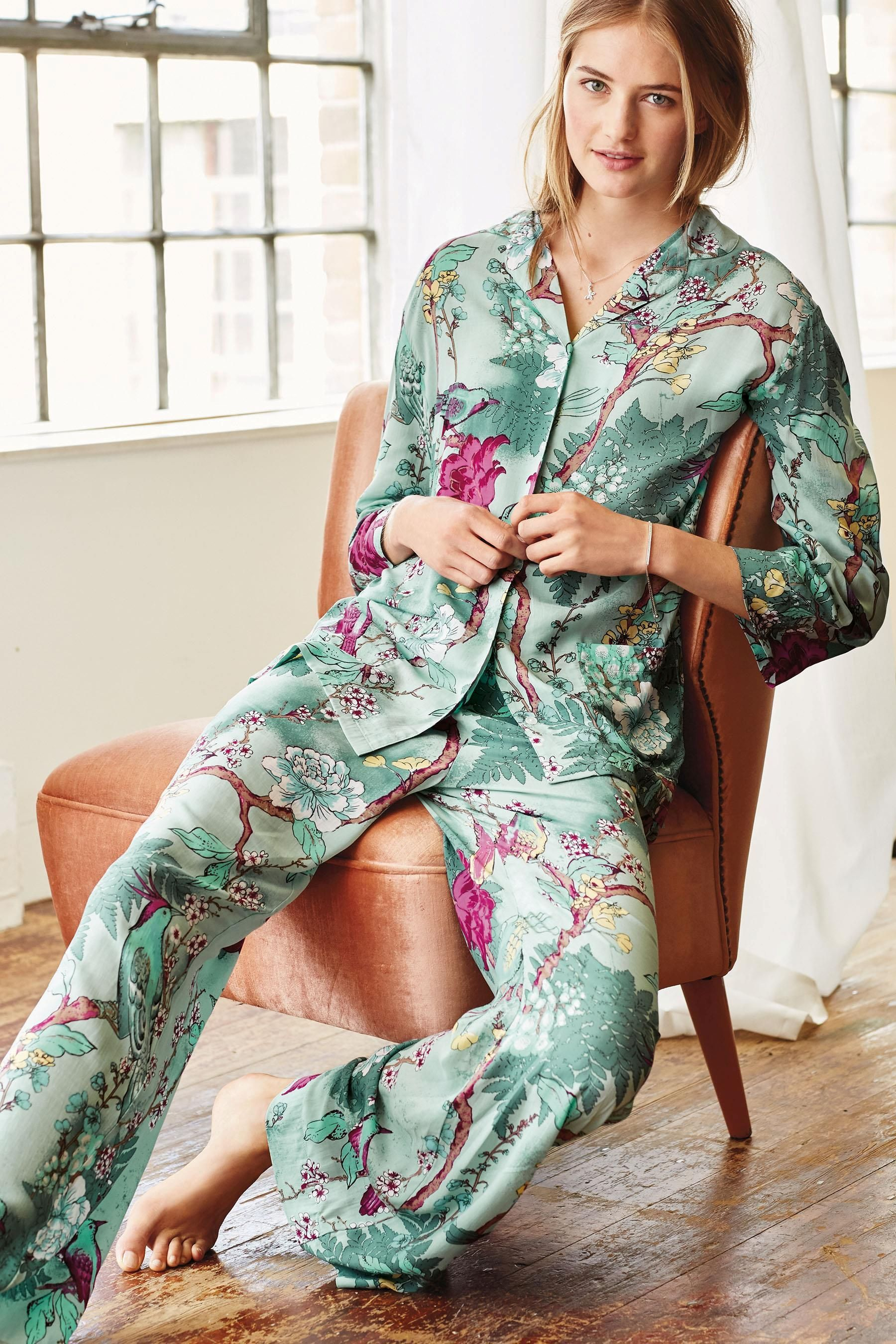 ae7a172e8d6 Buy Oriental Printed Button Through Pyjamas from the Next UK online shop