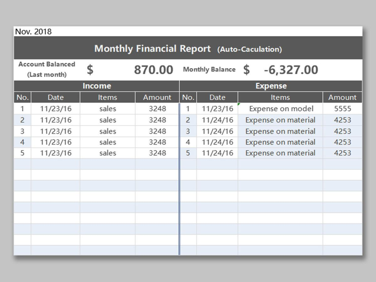 Wps Template Free Download Writer Presentation Pertaining To Monthly Financial Report Templat Report Template Templates Free Download Professional Templates