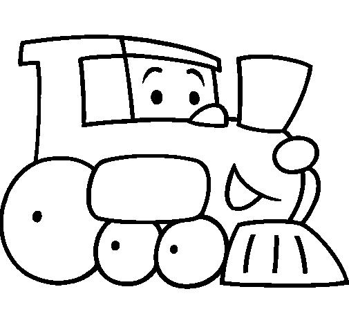 Dibujos De Trencitos Pintados Imagui Dibujo Tren
