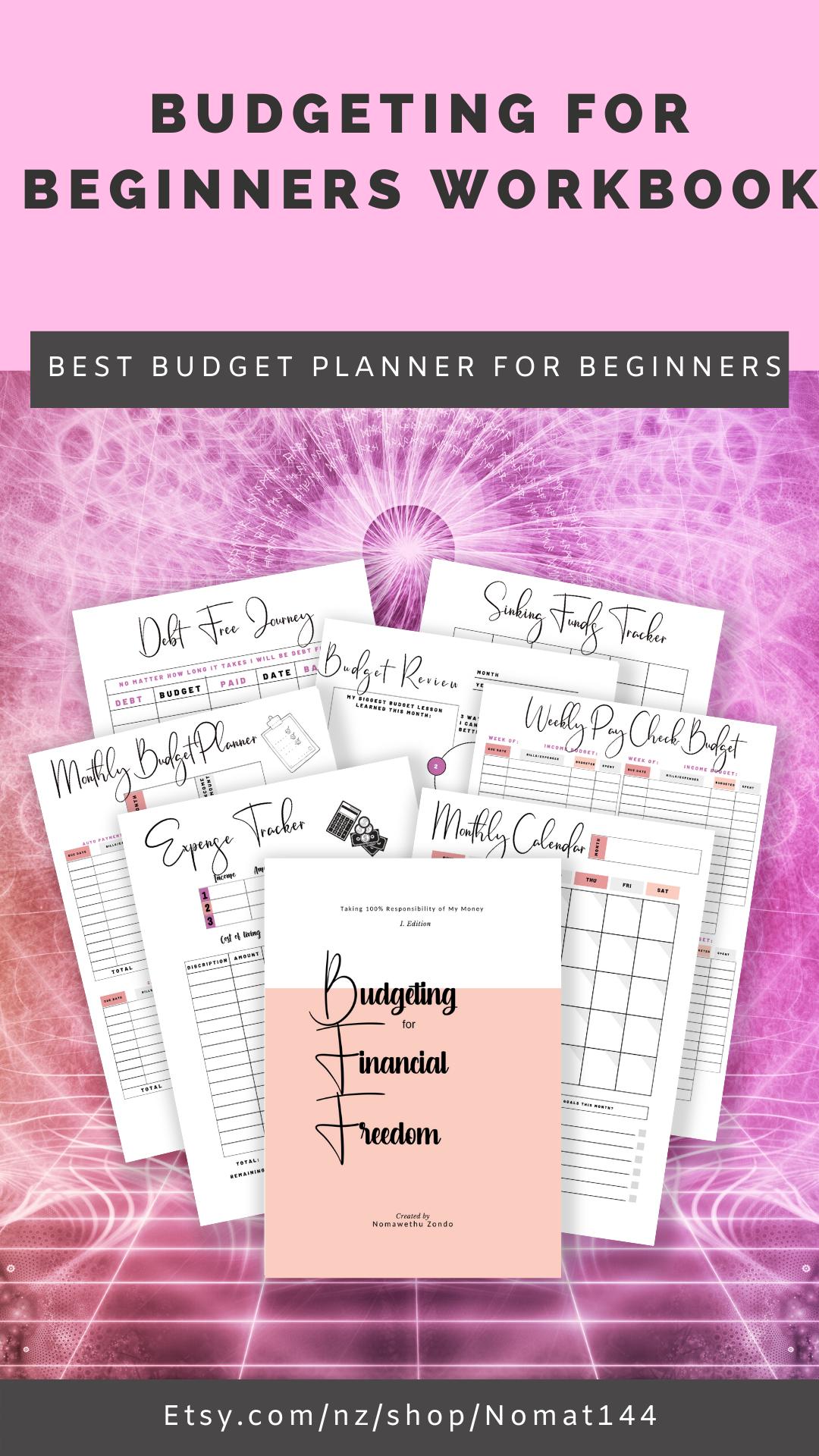 Budget Planner Workbook Cash Envelope System Budget