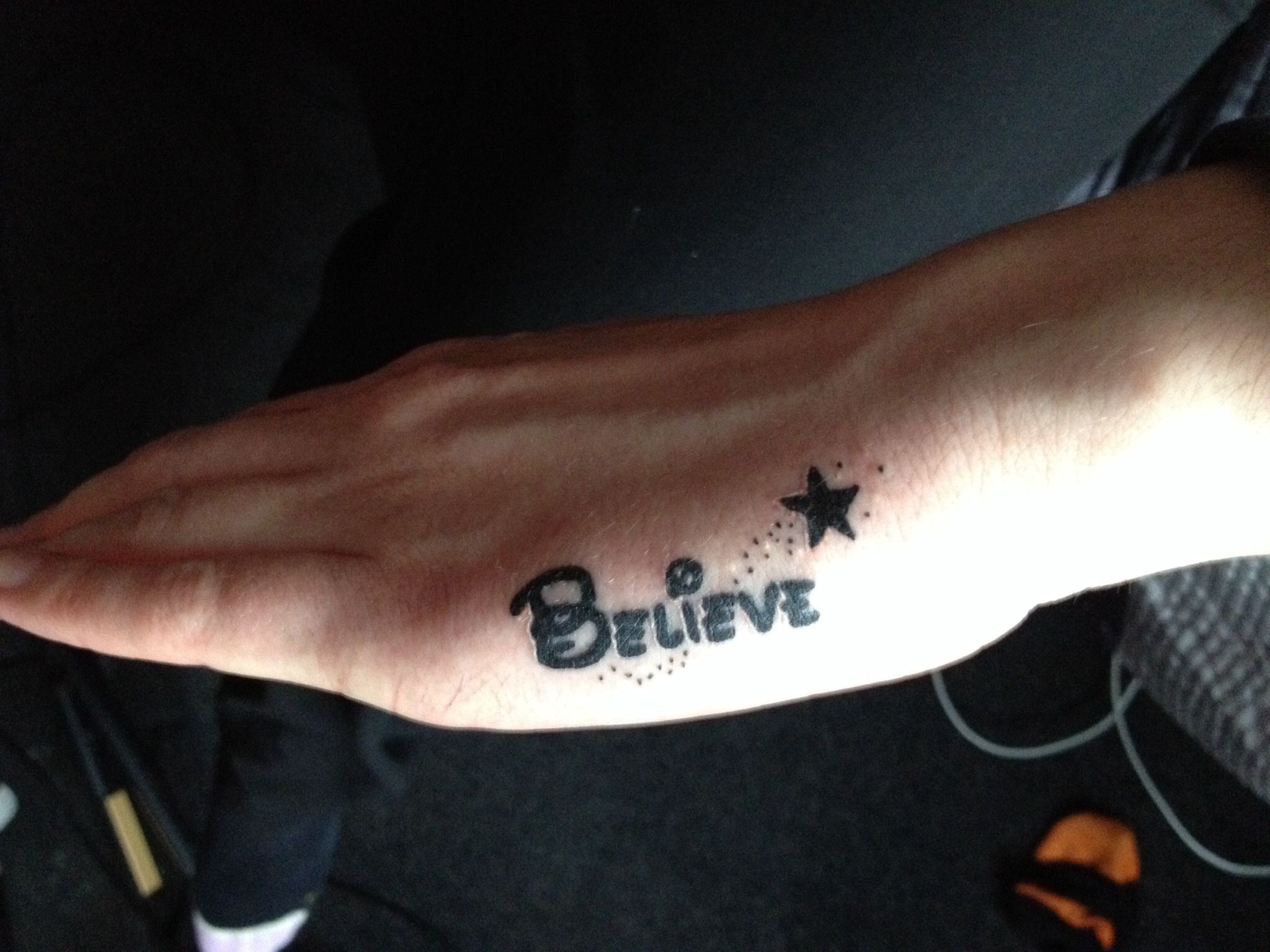 Disney Believe Tattoo On Side Of Hand Perfection Tattoos