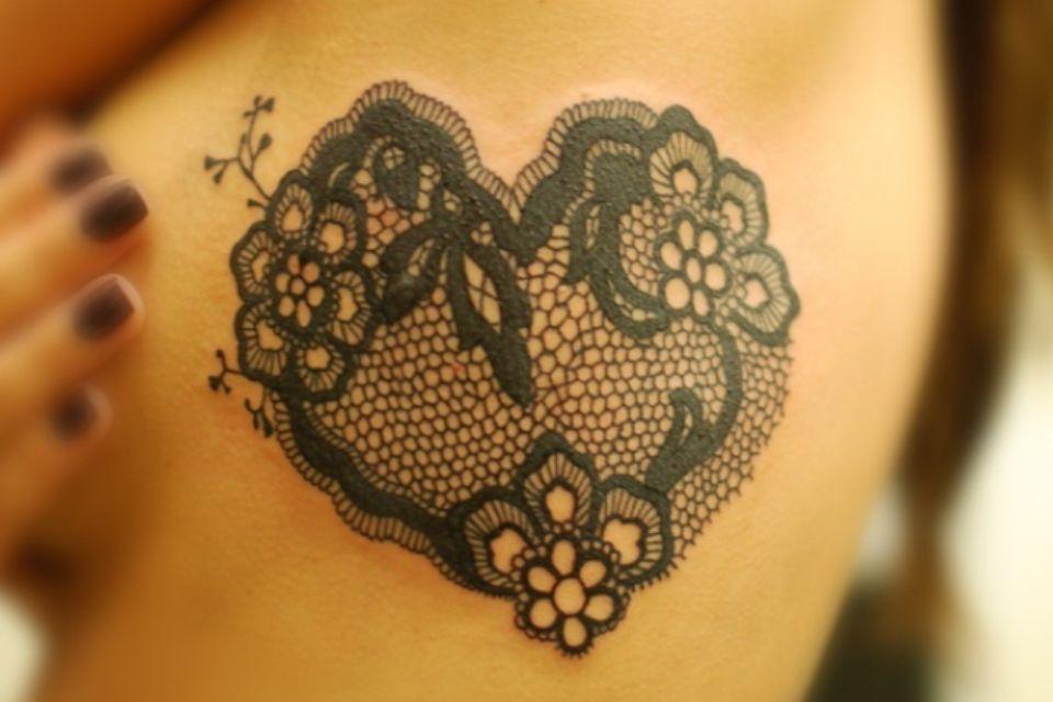 Mehndi Lace Tattoo : Tattoofriday lace tattoo renda and