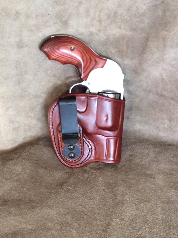 S&W J Frame Concealed Tuckable (IWB) Leather Gun Holster