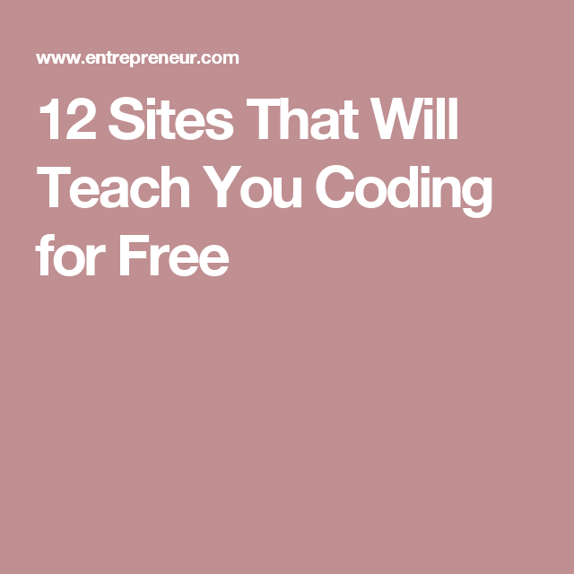 Sites That Will Teach You Coding For Free