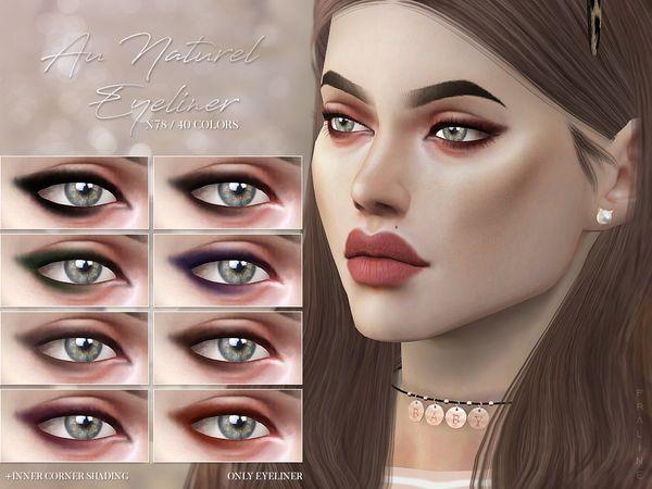 sims 4 updates: tsr - make up, eyeliner : au naturel eyeliner n78