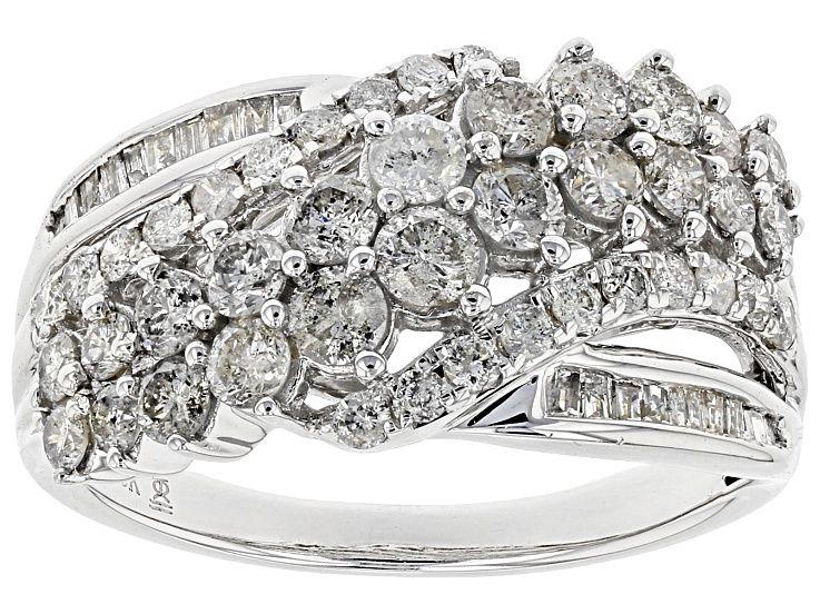 White Diamond 10k White Gold Ring 1 50ctw Cdg043 White Gold Rings White Gold White Diamond