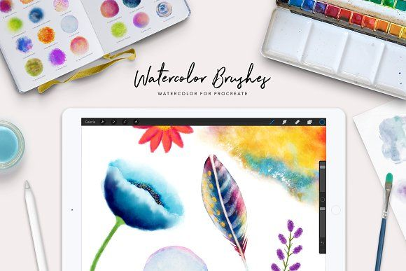 Procreate Watercolor Brush Box Watercolor Brushes Procreate