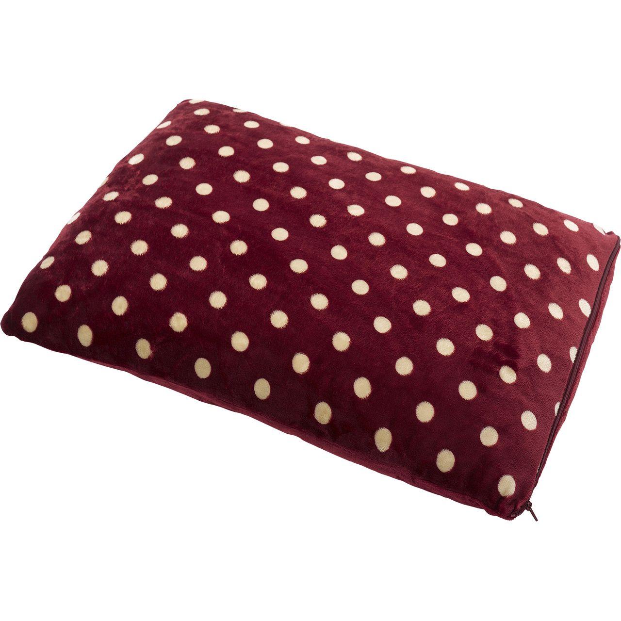 Petface Luxury Red & White Polka Dot Mattress (Medium
