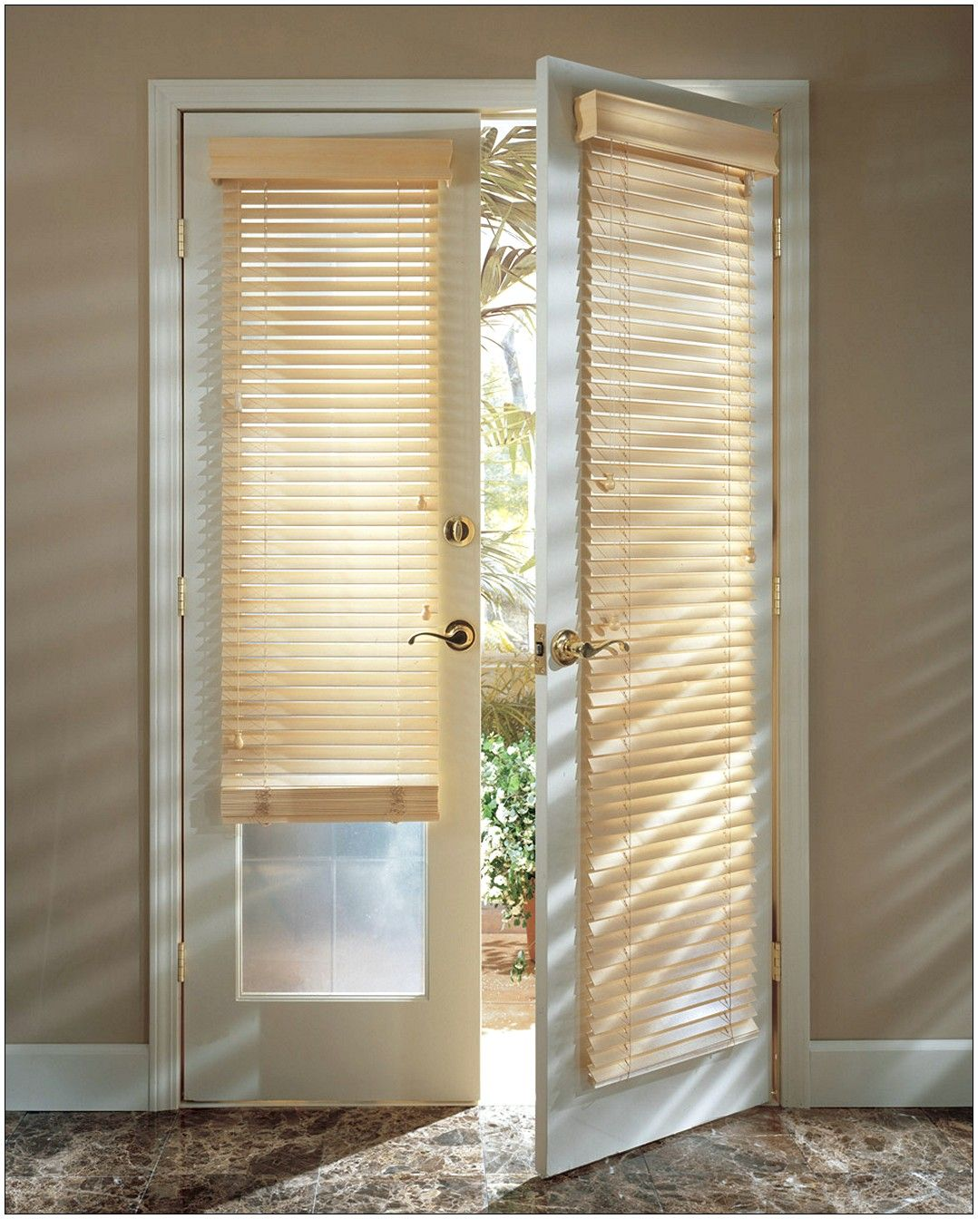 Wooden Door Blinds General French Door Blinds Photo Resourcedir Home Directory