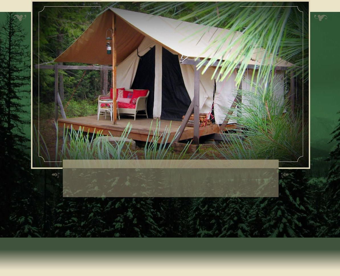 A North Idaho bed and breakfast Tent, Bed, breakfast