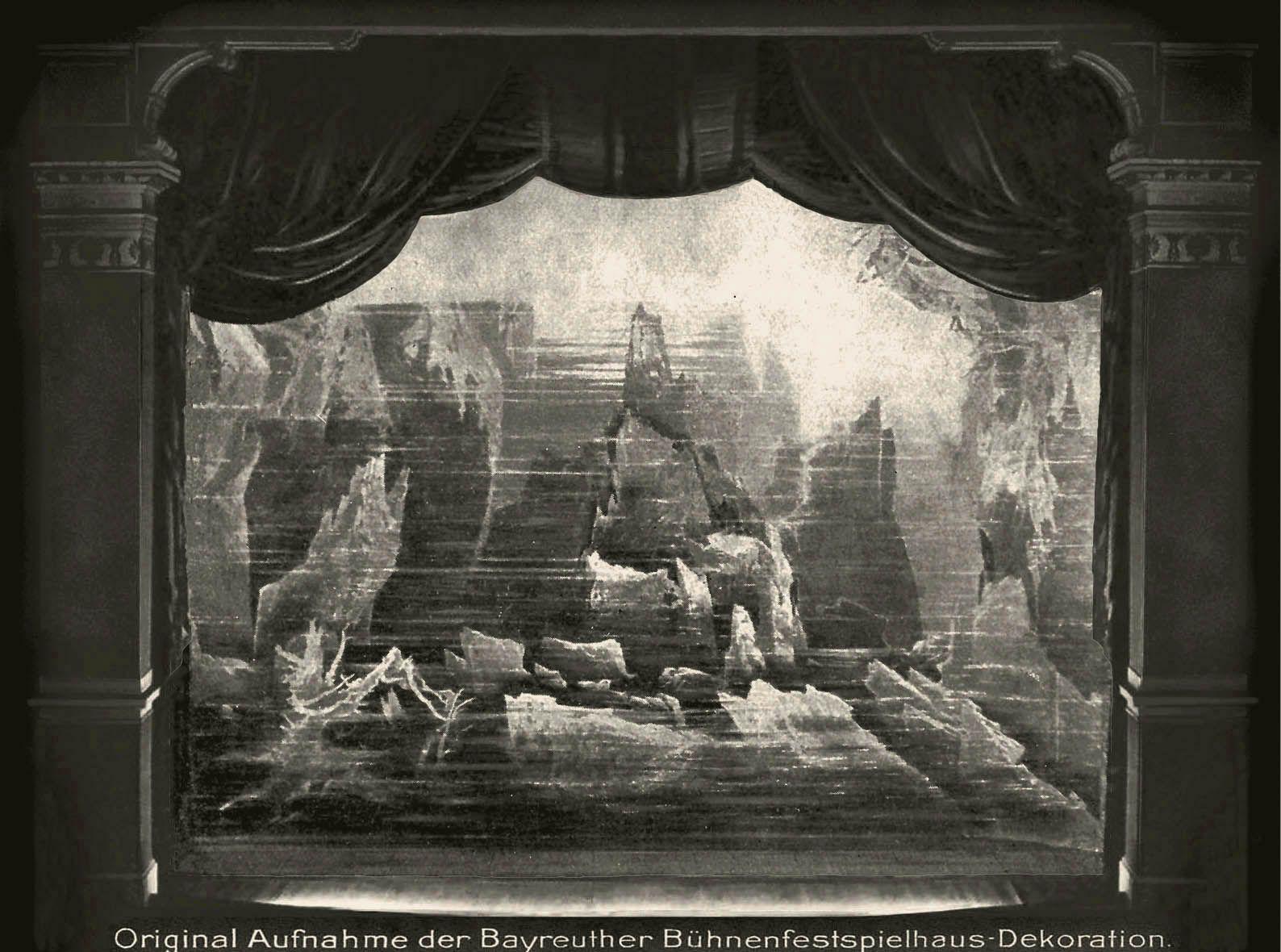 Das Rheingold  1.Bild Bühnenphoto ca.1905 | Painting