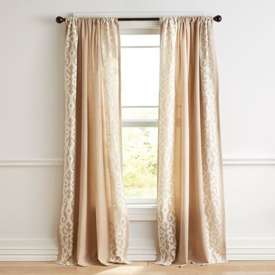 Embroidered Natural Curtain | Natural curtains, Living ...