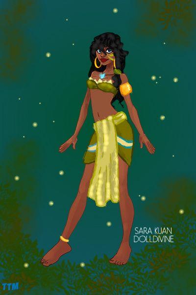 Kiana {Tiana and Kida mix} ~ by ToTheMoon ~ created using the Urban Chic doll maker | DollDivine.com