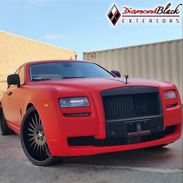 Sweet Rolls Royce Wrap Ped In 3m 1080 Matte Red By Diamond Black Exteriors Http Www Diamondblackexteriors Com Black Exterior Rolls Royce Matte Red