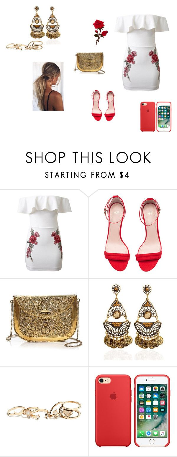 """""""Sem título #130"""" by milenapacheco16 on Polyvore featuring moda, WithChic, H&M, From St Xavier e GUESS"""