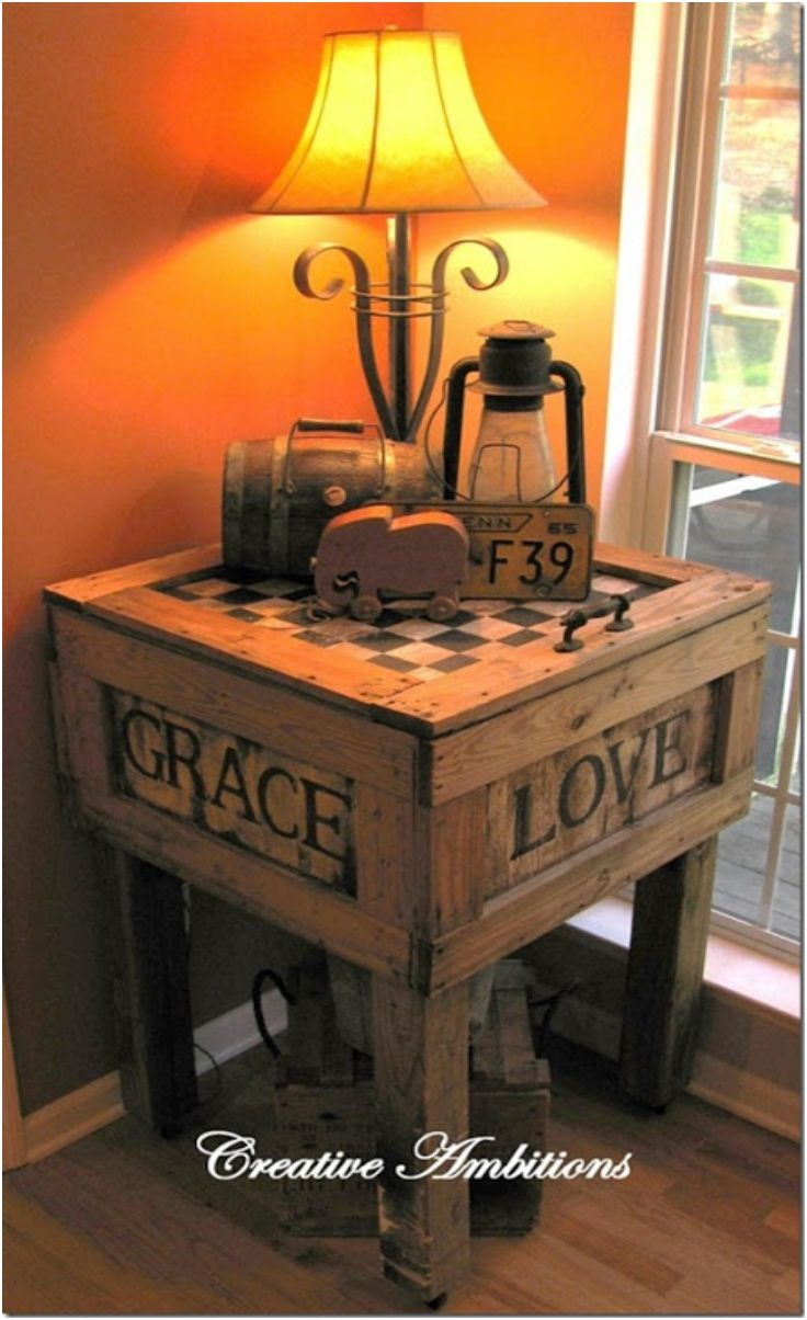 Top 10 DIY Tables From Recycled Wooden Objects
