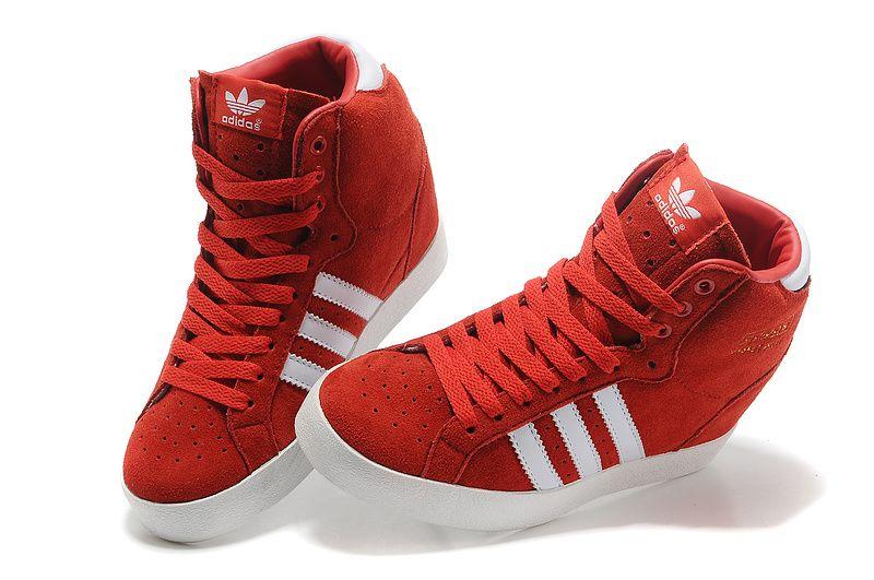adidas superstar high red