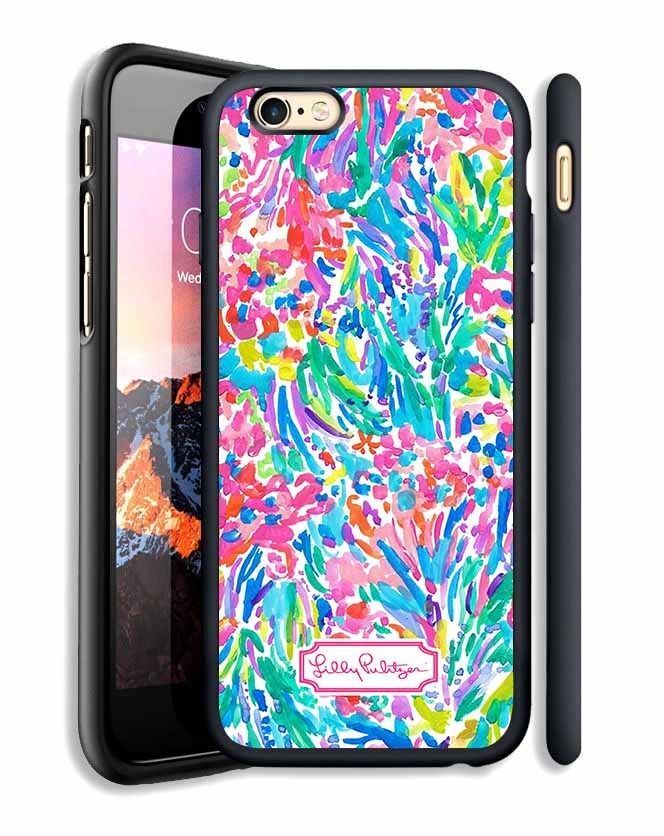 lilly pulitzer floral custom for iphone 6 6s,6 6s ,7,7 print on