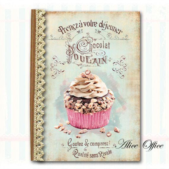 cahier de recettes r tro vintage d co cupcake chocolat jolies couvertures pinterest. Black Bedroom Furniture Sets. Home Design Ideas