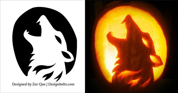 10 free halloween scary cool pumpkin carving stencils. Black Bedroom Furniture Sets. Home Design Ideas