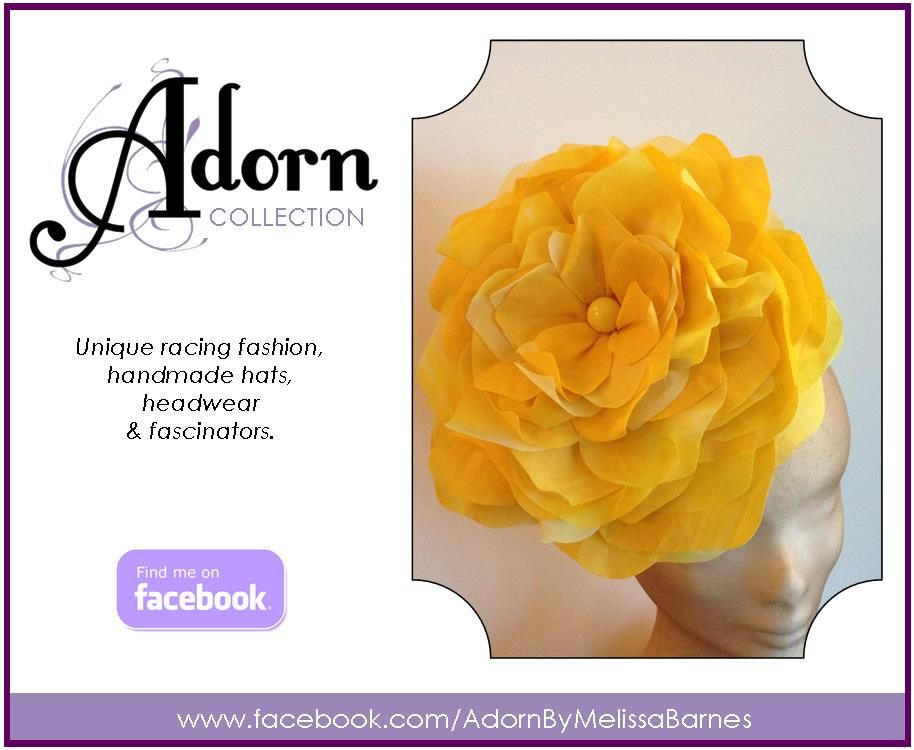 Adorn Collection By Melissa Barnes www.facebook.com/AdornByMelissaBarnes #headwear, #racing fashion, #hats, #fascinator, #Millinery