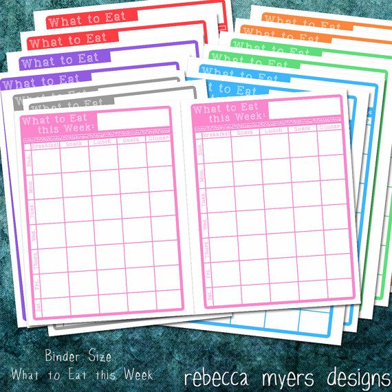 Printable Organizer Planner Pages Full Size By
