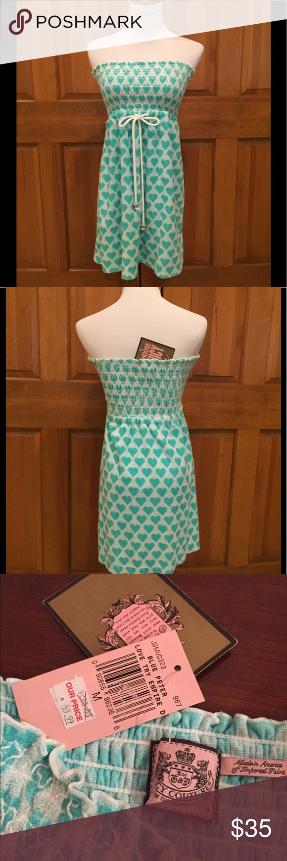 36241406a4fa Juicy Couture Terry Swim CoverUp or Dress NWT fabulous strapless terry  cloth dress or swim coverup