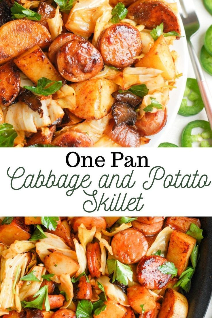 One Pan Cabbage and Potato Skillet | Erin Lives Whole