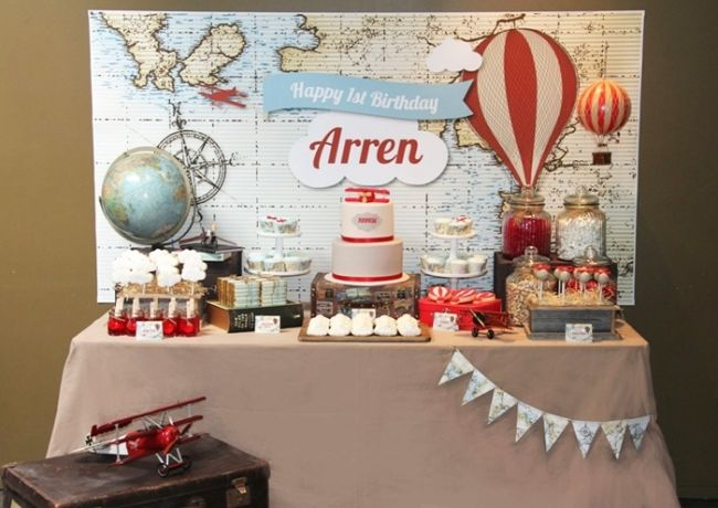 Around The World In Eighty Days Theme First Birthday Parties Party Themes