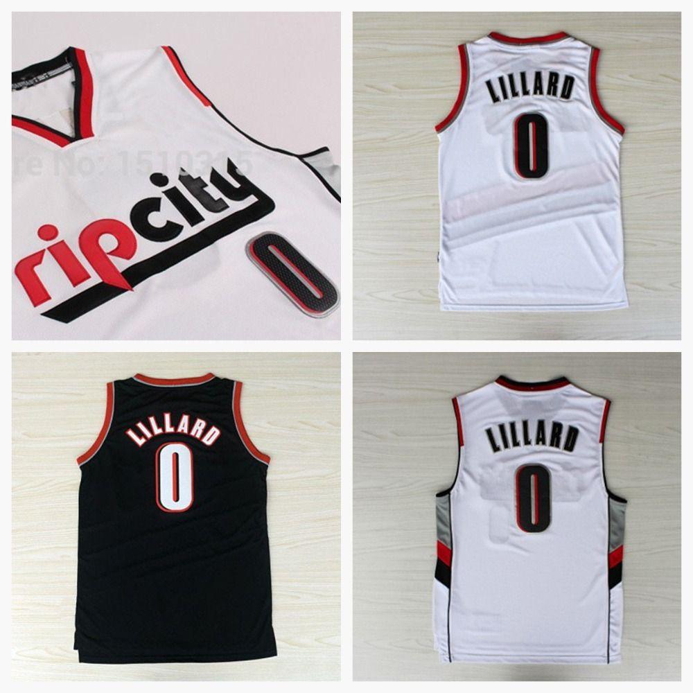 Find More Basketball Jerseys Information About Rip City 0 Damian Lillard White Jersey New Fabric Rev 30 Jerseys White Jersey Jersey Bedding Basketball Jersey