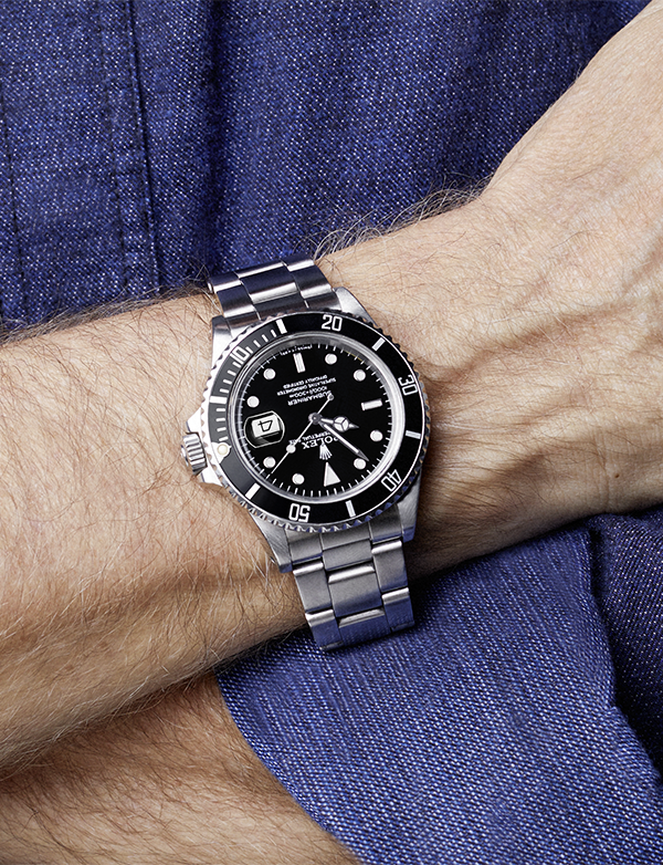 James Cameron\u0027s steel Rolex watch. The Oyster Perpetual