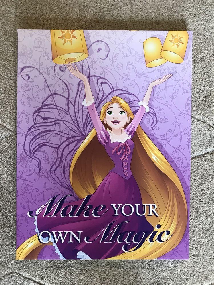 Disney Princess Tangled Rapunzel Framed Wall Canvas Children\'s Room ...