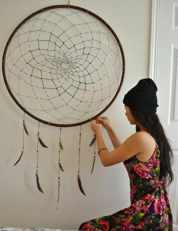 traumf nger selber basteln einfache anleitung mit 29 ideen in bildern tasarimlar pinterest. Black Bedroom Furniture Sets. Home Design Ideas