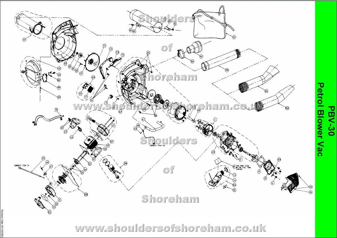 medium resolution of ryobi pbv 30 spare parts diagrams