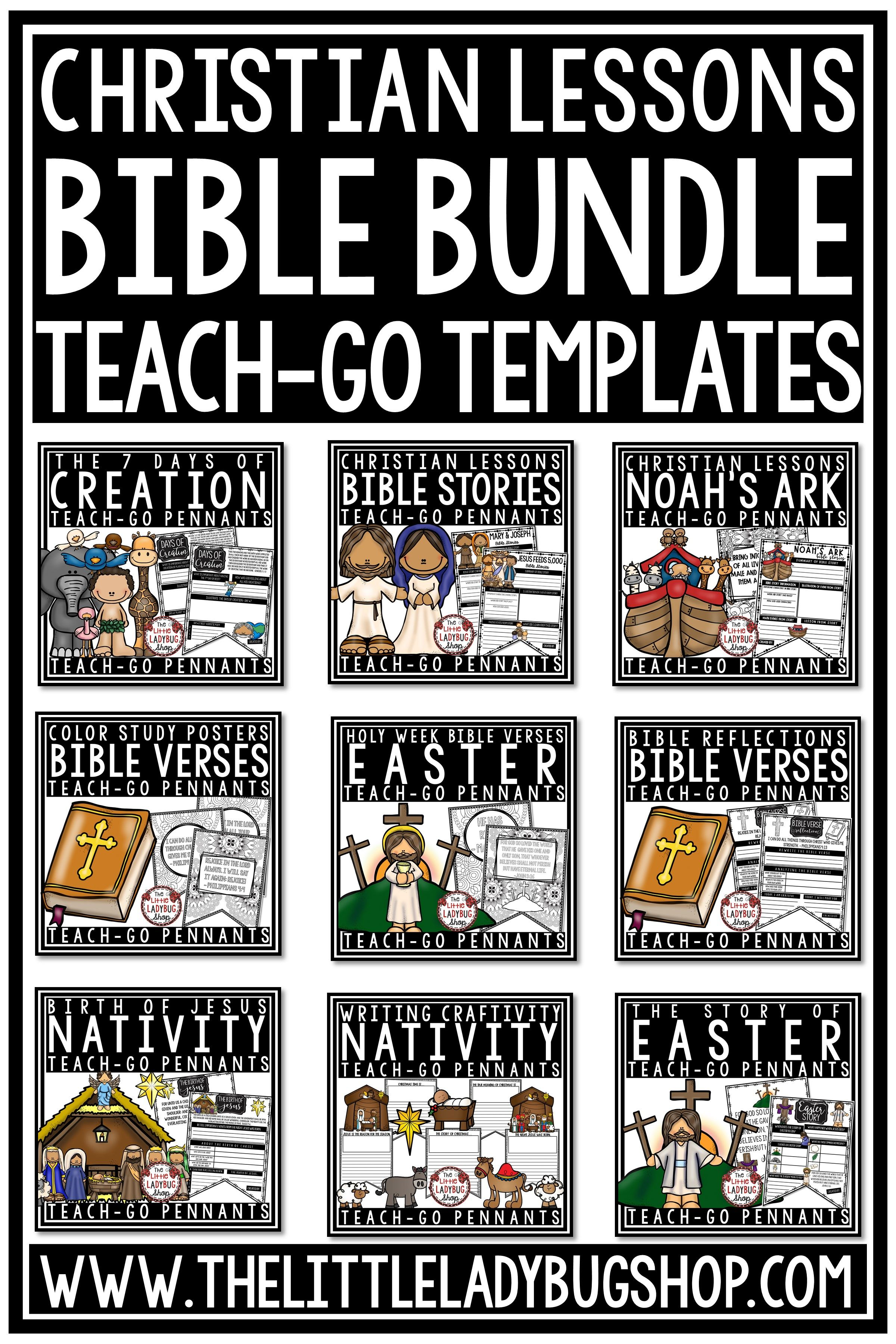 Christian Bible Lessons Bundle Christian Bulletin Boards