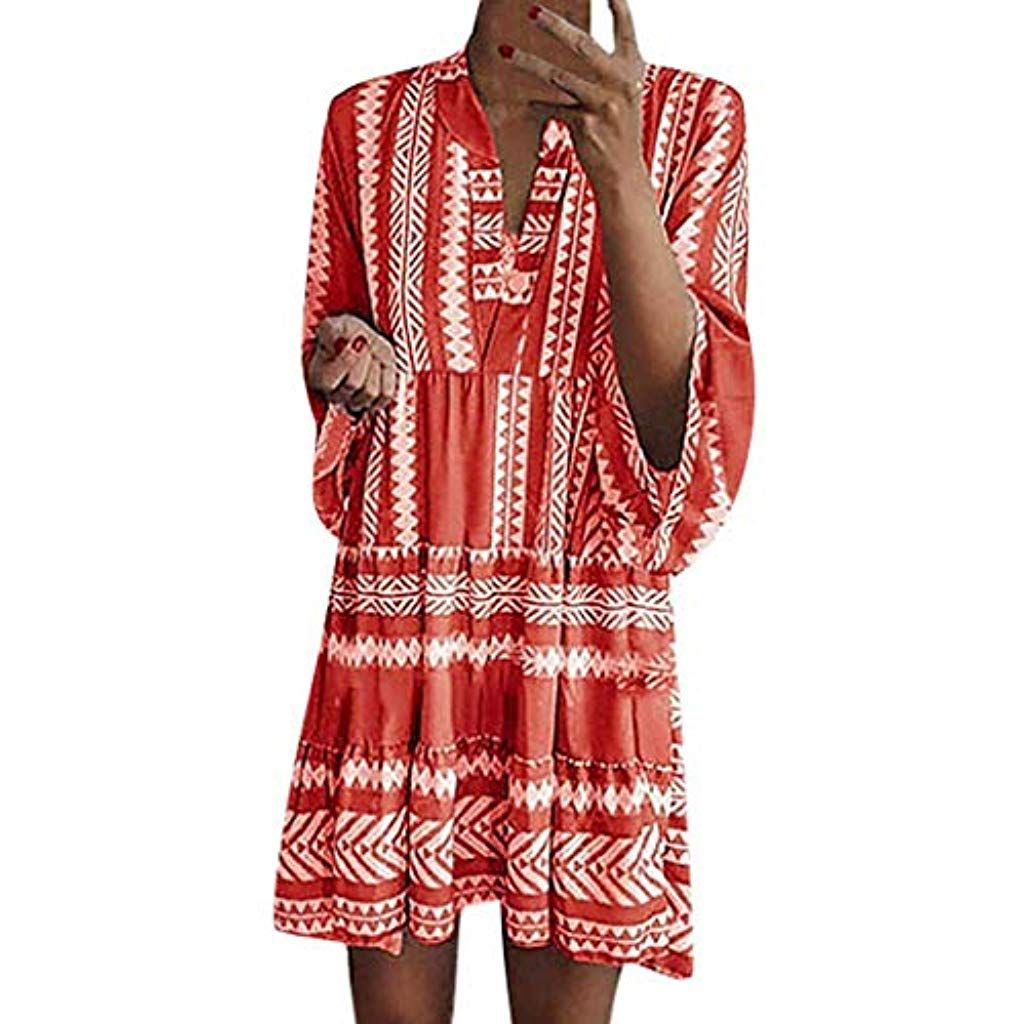 SHINEHUA Sommerkleid Damen 11/11 Arm Große Größen Sommer Kleid
