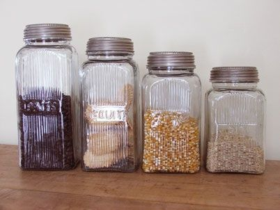 Kitchen: Retro Glass Storage from Farmhouse Wares | Glass storage ...