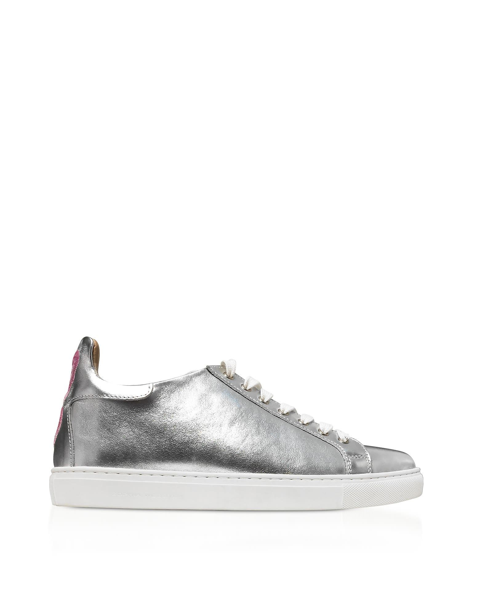 SOPHIA WEBSTER Designer Shoes, & Pastel Metallic Leather Bibi Low Top Sneaker