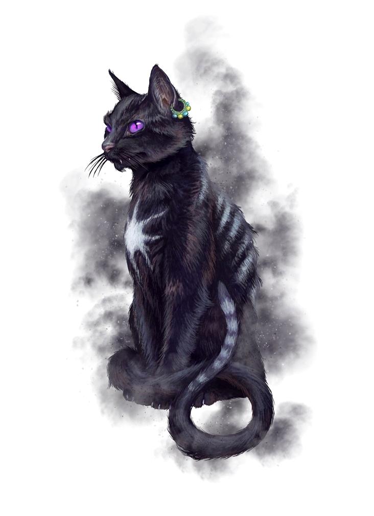 Cat Agathion Familiar Pathfinder PFRPG DND D&D d20