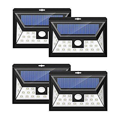 24 Leds Foco Solar Mpow Con Sensor De Angulo Ancho Focos Led Exterior Proteccion Ambiental Y Ahorra De Energia L Focos Led Exterior Led Sensores De Movimiento