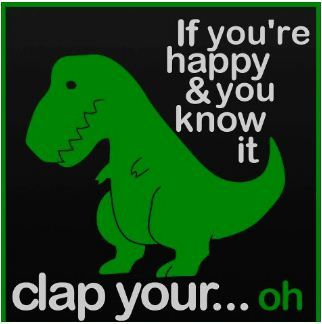 5e0f7a471 T Rex doesn't do push ups. | I know a good idea when I steal one ...