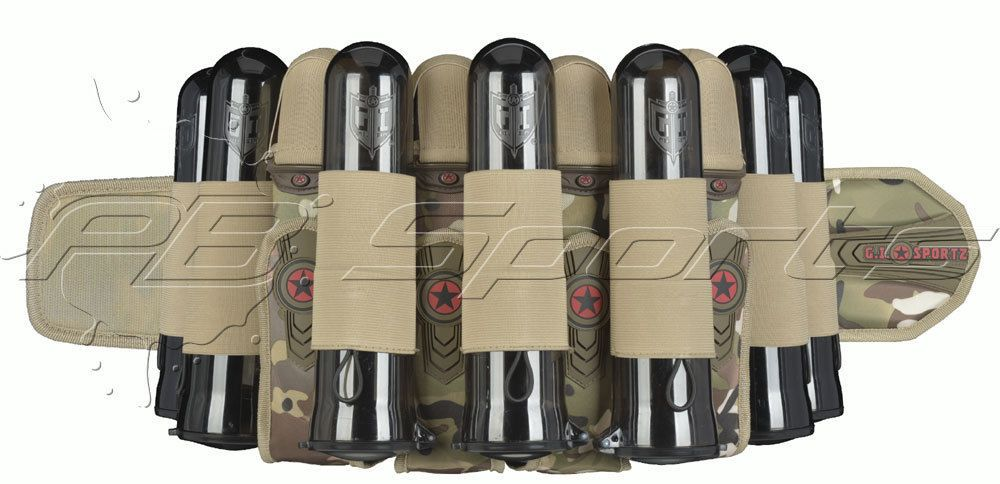 Harnesses and Pods 16047: Gi Sportz 4+7 Race Harness Multicam Camo Paintball Pack With Ejection Sports New BUY IT NOW ONLY: $76.95
