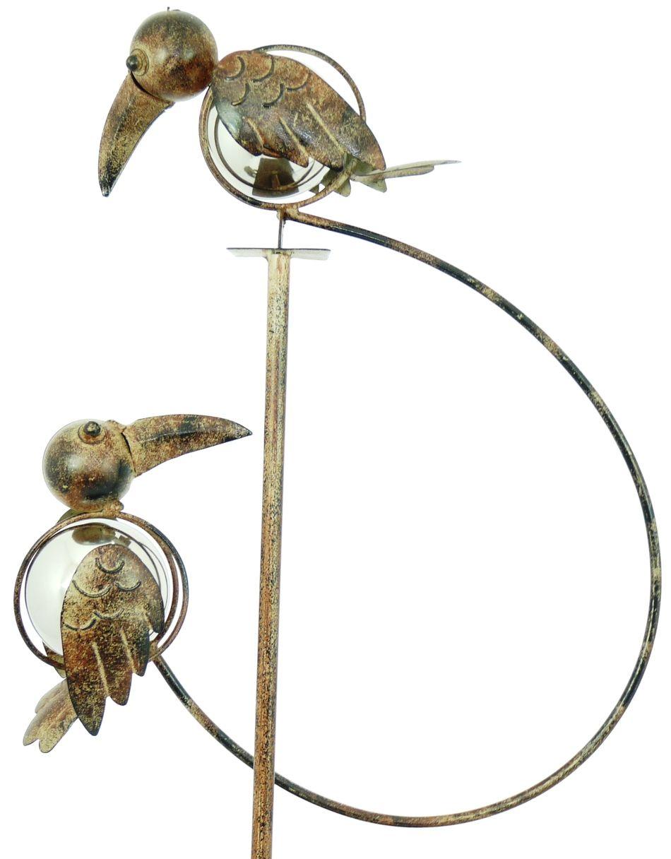 Rocking U003e Rocking Balancing Toucans Metal Garden Wind Spinner Ornament