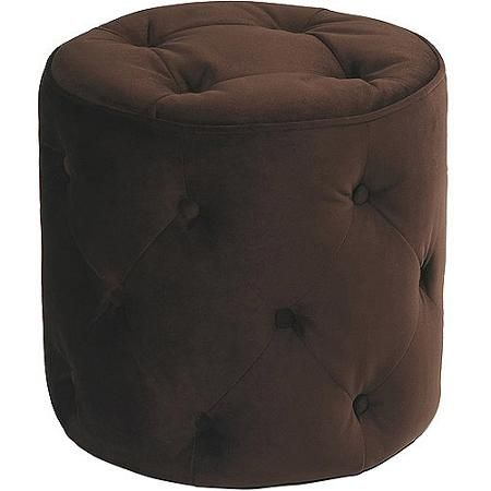 Curves Tufted Round Ottoman, Multiple Colors | The Home | Pinterest