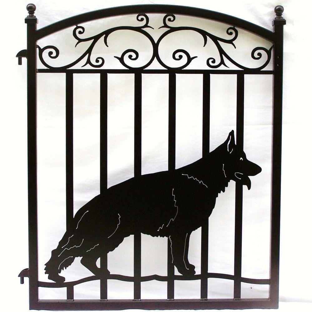 German Shepherd Dog Metal Ornamental Hanging Bracket