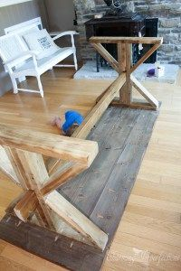 Kitchen Table Legs Equipment Used Diy Farmhouse With 2 Style Options For In