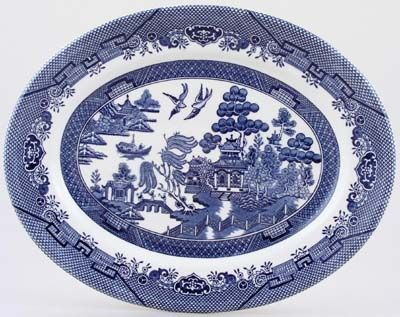 Churchill Blue Willow Meat Dish Or Platter Oval Blue Willow China Blue Willow Blue Willow Dishes