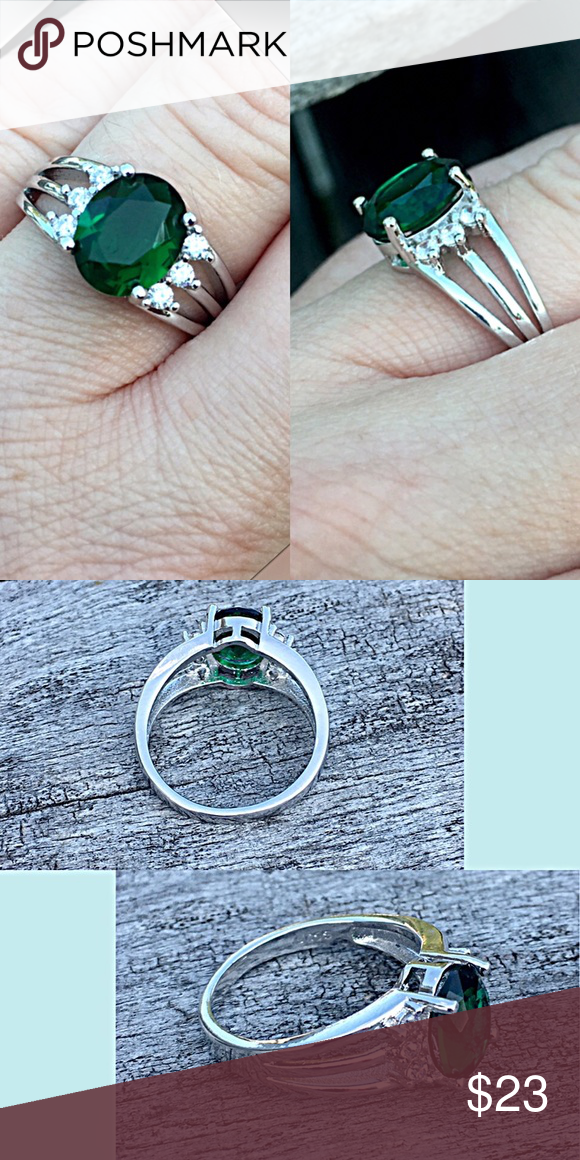 rectangular by sterling format man square emerald rectangle ring baguette center on silver stacking in karthia rings centered made shank