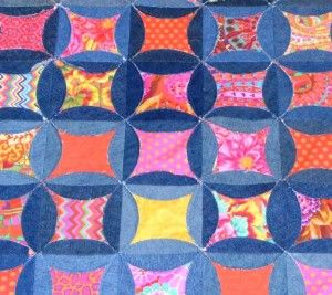 Inventive Denim – Kaffe Fasset Denim Circle Rag Quilt! | Kaffe ... : denim circle rag quilt - Adamdwight.com